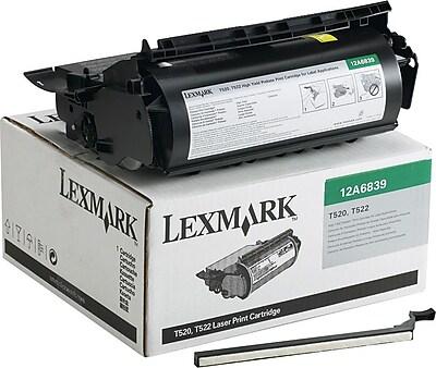 Lexmark Black Toner Cartridge (12A6839), High Yield, Return Program