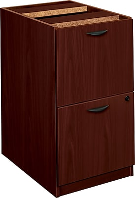 """""basyx by HON BL Series 2-Drawer Pedestal File/File, Mahogany, 27 3/4""""""""H x 15 5/8""""""""W x 21 3/4""""""""D NEXT2017 NEXT2Day"""""" 616901"