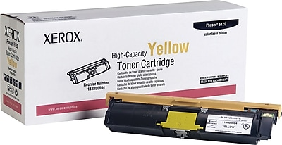 Xerox Phaser 6120/6115Mfp Yellow Toner Cartridge (113R00694), High Yield