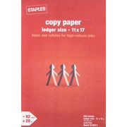 "Staples Copy Paper, 11"" x 17"", Ream"