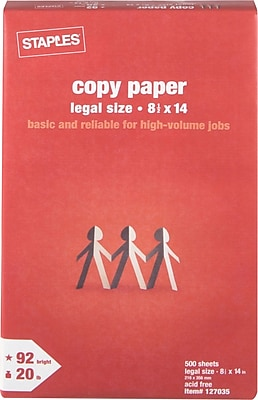 Staples® Copy Paper, 8 1/2