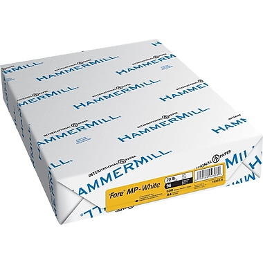 Hammermill Bright White Fore Copy Paper, A4, 92 Bright, 20 LB, 500 Sheets