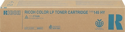 Ricoh 888311 Cyan Toner Cartridge, High Yield