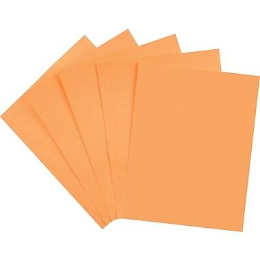 Staples Brights 24 lb. Colored Paper, Orange, 500/Ream