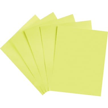 Staples Brights 24 lb. Colored Paper, Light Yellow, 500/Ream
