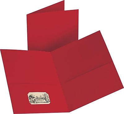 Staples 2-Pocket Folder, Red, 10/PK (13382-CC)
