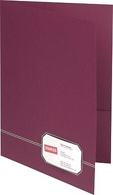 Oxford Design Monogram 2-Pocket Folders, Burgundy/Gold