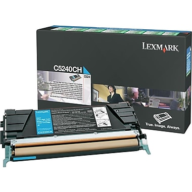 Lexmark Cyan Toner Cartridge (C5240CH), High Yield, Return Program