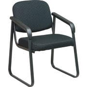 Office Star™ Deluxe Sled Base Guest Chair with Arms, Midnight Black