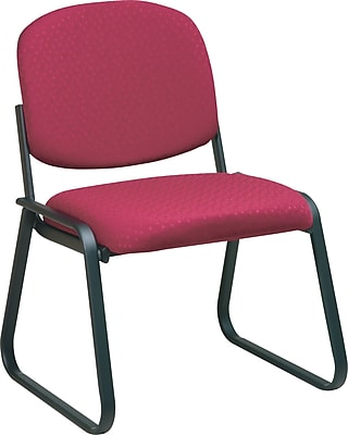 Office Star™ Deluxe Sled Base Armless Guest Chair, Cabernet