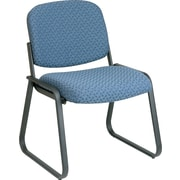 Office Star™ Deluxe Sled Base Armless Guest Chair, Blue