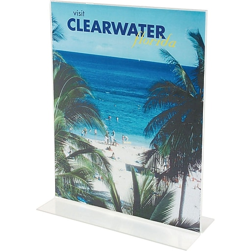 """Staples® Vertical Stand-Up Sign Holder, 8 1/2""""W x 11""""H, 12/Pack"""