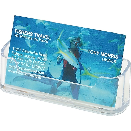 Staplesr clear business card holder staples for Make business cards staples