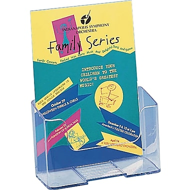 Staples® Pamphlet Size Literature Holder, Durable clear plastic, 7 3/4