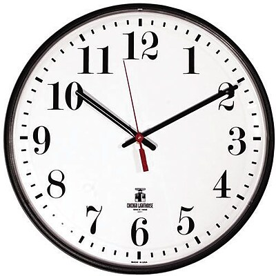 Chicago Lighthouse Industries® Wall Clocks, Quartz Slimline