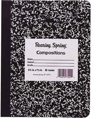 Roaring Spring Paper Products Marble Composition Book, 10