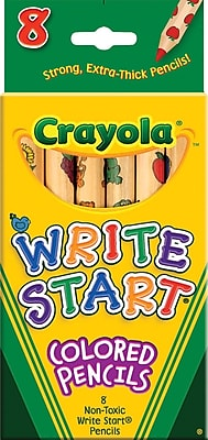Binney & Smith Crayola® Write Start Colored Pencils, 8/St