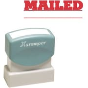 "Shachihata Inc ""Mailed"" Pre-Inked Stamp, Red, 1/2"" x 1 5/8"""