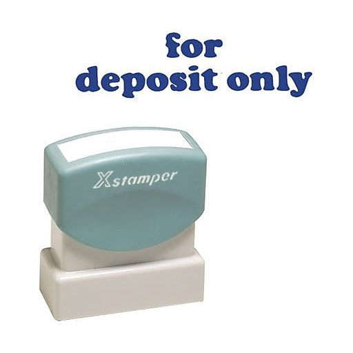 One Color Message Stamp For Deposit Only Pre Inked Re Inkable Blue