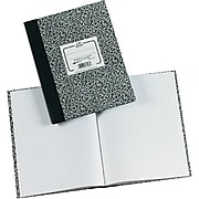 """National Composition Notebook, Green Marble, 10 1/8"""" x 7 7/8"""", 5 x 5 Quad, 60 Sheets (RED53108)"""