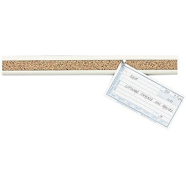 Quartet® Bulletin Bar® II, Natural Cork w/Putty Plastic Frame, 18