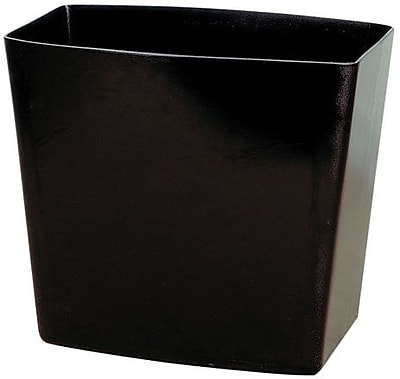 Officemate Waste Basket, 5 Gallon, Black, 12 1/2