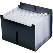"Smead Expanding File With Flap, Letter Size, 13"" x 1 1/8"" x 9 1/2"", Black (SMD-70845)"