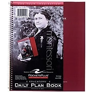 """Roaring Spring Products Teacher's Daily Plan Books, 11"""" x 8 1/2"""", 56 Sheets, Printed Green Paper"""