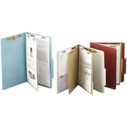 "ACCO Pressboard Classification Folder  6 Parts,  Leaf Green, Letter size Holds 8 1/2"" x 11"", 10/Pk"