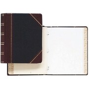 """Wilson Jones Minute Book Binder, 11"""" x 8 12"""", 500 Pages, Red and Black Imitation Leather"""