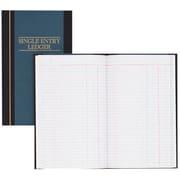 "Wilson Jones S300 Line Single Entry Ledger Account Book, 11 34"" x 7 14"", 150 Pages, Blue"