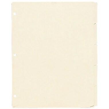 Oxford 3 Ring Book Index Sheets, 5 Tab, Manila, 8 1/2