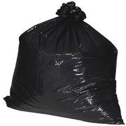 "Nature Saver® Recycled Trash Liner , 56 Gallon , 1.25 mil , Black , 43"" x 48"" , 100/Box"