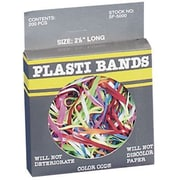 "Plasti Bands, Size 4-1/4"", 200 PCS, Assorted Colors"