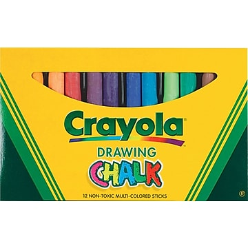 Crayola® Colored Drawing Chalk, Assorted Colors, 12/Pack