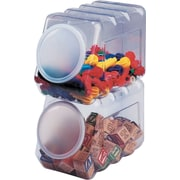 Pacon® 27660 Interlocking Storage Container With Lid, Clear