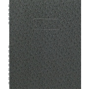 "Blueline® NotePro Notebook,  9-1/4"" x 7-1/4"", Black Ostrich-Like, 192 Pages"