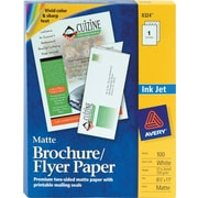 Avery Inkjet Tri-Fold Brochures, Matte Finish