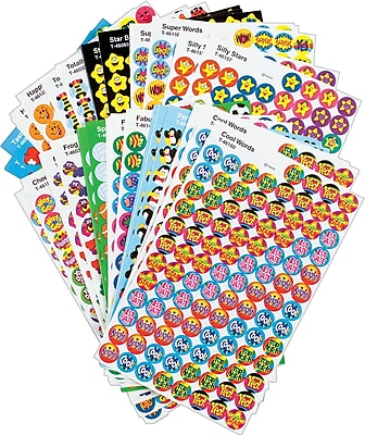 Trend Super Spots and Super Shapes Sticker Variety Pack, Awesome Assortment, 5,100/Pk
