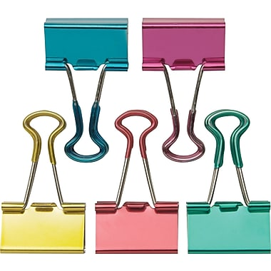 Staples Small Metallic Soft Grip Binder Clips, 3/4