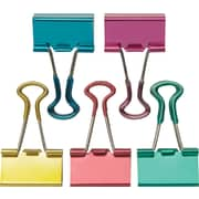 "Staples Small Metallic Soft Grip Binder Clips, 3/4"" Size with 3/8"" Capacity, 18/Pack (13725)"