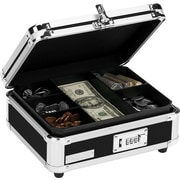 Vaultz® VZ01002 Locking Cash Box, Black