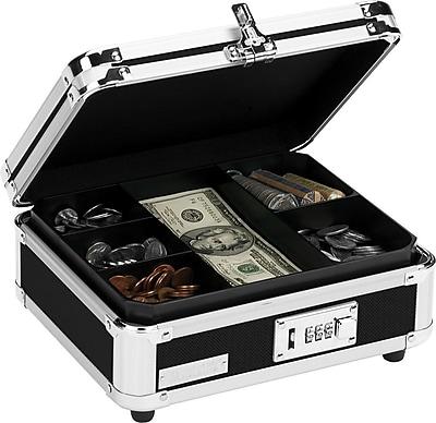 Vaultz® VZ01002 Locking Cash Box, Black