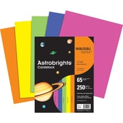 "ASTROBRIGHTS Cardstock, 8 1/2"" x 11"", 65 lb., Rocket Red, 250 sheets"