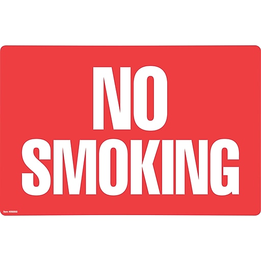 "Cosco® No Smoking/No Fumar 8"" x 12"" (098068)"