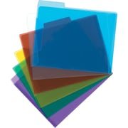 "Staples® Poly Transparent File Folders, Letter Size, 8-1/2"" x 11"", Assorted Colours"