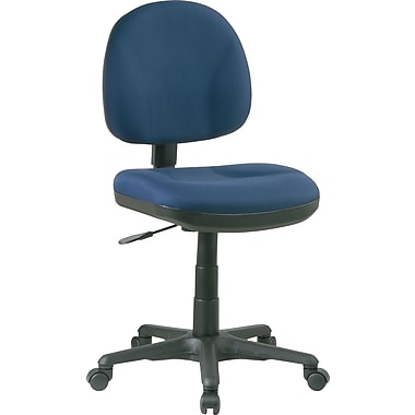 Office Star™ Fabric Computer and Desk Office Chair, Navy, Armless Arm (8120-225)