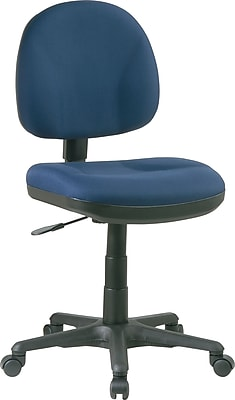 Office Star & trade, Deluxe Armless Task Chair, Navy