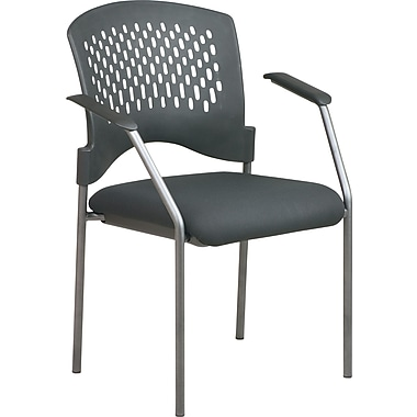 Office Star™ Stackable Titanium Finish Visitor's Chairs