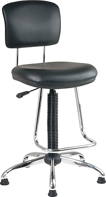 //.staples-3p.com/s7/is/  sc 1 st  Staples & Office Star Faux Leather and Chrome Drafting Chair with Teardrop ...